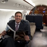 Brad Harris in a Gulfstream IV at SkyService/Montreal Canada