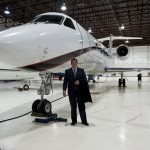 Brad Harris with Gulfstream IV at SkyService/Montreal Canada