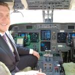 Brad Harris in the cockpit - Dallas Jet International