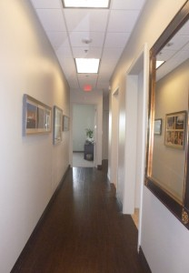 Hallway at Dallas Jet International Offices in Colleyville TX