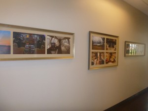 Hallway gallery at Dallas Jet International Offices in Colleyville TX