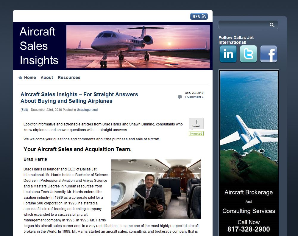 Dallas Jet International's blog offers straight answers on the often-obscure topic of aircraft sales and acquisition.